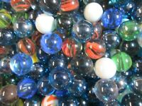 Nice Mix Of Glass Marbles by the Pound! ONLY $2.99 per lb. 1 inch diam - BULK