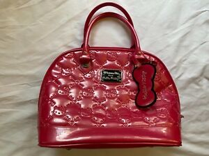 Loungefly Sanrio Hello Kitty Hot Pink Embossed Faux Patent Leather Satchel Bag