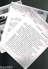 1991 Ford RANGER {Sport} / AEROSTAR Press Kit Photo,Specifications for?Brochure?