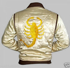 Drive Bike Rider Trucker Gosling Jacket With Golden Embroidered Scorpion