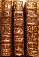 CLEMENT DE BOISSY. L'AUTEUR DE LA NATURE. HISTOIRE NATURELLE. 1787. 3 VOLUMES.