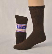 Mens diabetic crew socks brown size 10-13 12 pair