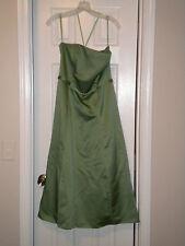 Clover Green Spaghetti Strap TeaLength Formaldress Sz 8-From David's Bridal Shop