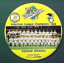 1988 World Series Oakland A's Baseball Button PinBack Pin #13728 Oddball Item