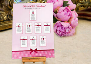 Personalised Wedding Seating Table Plan ~Canvas~Board~Paper~