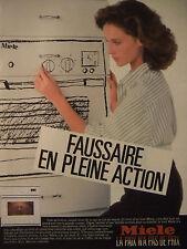 PUBLICITÉ 1986 FOUR MIELE LA PAIX N'A PAS DE PRIX - ADVERTISING