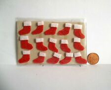 DOLLS HOUSE CHRISTMAS STOCKING CRAFT/CARD TOPPERS/EMBELLISHMENTS