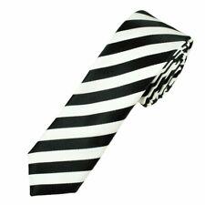 NEW Black and White College Stripe Neck Tie Striped
