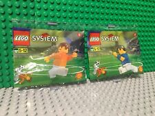 NEW LEGO System Soccer Minifigure Polybag 3304, 3305 Dutch Footballer Shell Lot