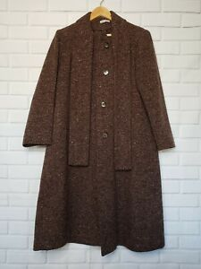 Arlette Vintage 60's Women's Coat M? Size Lined Front Bow Made In USA Buttoned