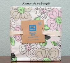 NEW Pottery Barn Teen MAGNOLIA Organic Cotton Full/Queen Duvet PINK/GREEN floral