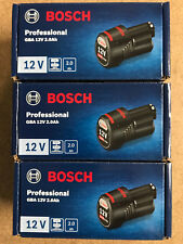 3 X ORIGINAL Akku Bosch 12 Volt Li-ION, 2,0 Ah  Nachf.10,8 V----OVP im Karton