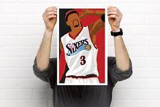 NBA Player Prints Jordan Dr. J Kemp AI Curry Rose Harden Prints Bobblehead Art