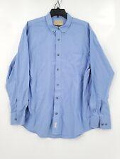 Cabelas Outfitter Series Mens Large Blue (Faint Underarm Stain) Button Up Shirt