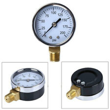 "40mm Hydraulic Pressure Gauge 1/8""NPT Side Mount  0-200 Psi 0-14 Bar Measure WON"