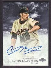 2013 Bowman Inception Baseball Prospect #PA-CBL Clayton Blackburn AUTO