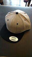 Cadillac Script Hat / Cap Grey and Black Snapback