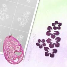 Schablonen für Airbrush und Nailart B140 Blumen Blüten Blüte 20-30mm 6 Stück