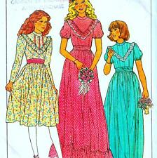 Vintage 80s GIRLS BRIDESMAID & PARTY DRESS Sewing Pattern Size 4 Retro CHILDS