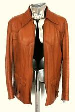 GUCCI Cognac Brown in pelle giacca EU50 GRANDE RRP £ 2400 Cappotto di Tom Ford Sole Design