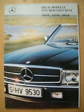 Prospekt Mercedes-Benz SL-Modelle R107 300 SL 420 SL 500 SL um 1988 - neuwertig