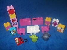 Lego Duplo Puppenhaus Küche Herd Spüle Tisch Stühle Kanne Topf Telefon Steine