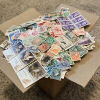 LOT OF 1,000's OF OFF PAPER STAMPS FROM OVER 100 DIFFERENT COUNTRIES
