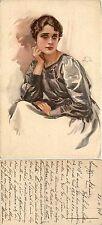 Illustrata, Aleardo Terzi, donna in posa, usata 1918