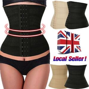 Womens Invisible Body Shaper Tummy Trimmer Waist Corset Control 3-row Buckle UK