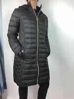 Michael Kors Zip Quilted Lightweight Packable Puffer Jacket Coat Black NEW