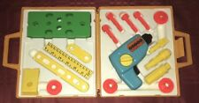 Vintage 1977 Fisher Price #924 Tool Kit 100% Complete Drill Works
