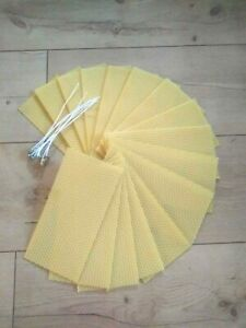 Kerzen Bastel Set 100% Bienenwachs Platten ca. 200x100mm