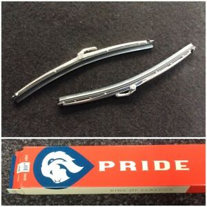 "CLASSIC MINI WIPER BLADE STAINLESS STEEL 10"" PAIR GWB219 x2 AUSTIN PRIDE EP9002"