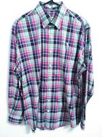 Peter Millar Nanoluxe Easycare Mens Size Large Multicolor Plaid Button Up Shirt