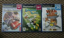 Micro Machines/Looney Tunes/Tom&Jerry PS2 Kids Games Bundle