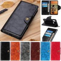 Magnetic Wallet Leather Flip Case Cover For Motorola Moto G7 Plus G8 Power E6S