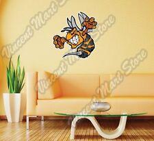 "Bee Hornet Wasp Fighting Cartoon Wall Sticker Room Interior Decor 22""X22"""