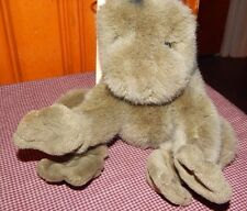"Vintage 1985 Gund Baby Frog Rattle Plush Toy Boys Girls 10"" Stuffed Animal Toy"