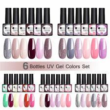 UR SUGAR 6 Bottles Nail Gel Polish Set Glitter UV LED Soak Off Gel Varnish 7.5ml