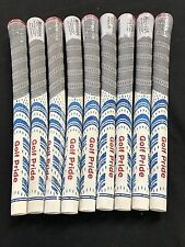 9 x Golf Pride New Decade Platinum Midsize White Genuine Golf Grip