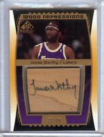 James Worthy 2004-05 SP Game Used Wood Impressions Auto Lakers #WI-JW 22/75