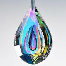Colorful 76mm Glass Crystal Lamp Prism Part Hanging Drop Pendant Chandelier