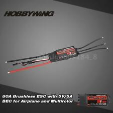 Hobbywing SKYWALKER 80A 2~6S ESC with 5V/5A BEC Program for Airplane T2O0