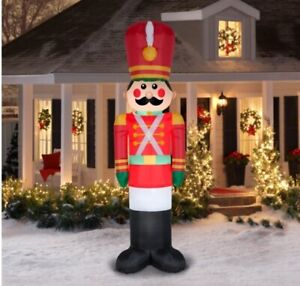 Holiday Time 10 Toy soldier Inflatable by Gemmy Industries nib