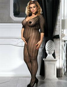 Plus Size Body Stocking Crotchless Full body - Sizes 18 to 24