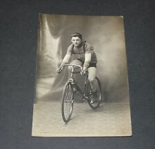 CPA PHOTO CYCLISME 1900-1915 COUREUR ANONYME CYCLE VELO