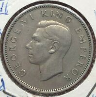 1947 New Zealand One Shilling Coin