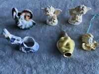Vintage Misc.Lot of 7 Porcelain Figurines Angels Ram Dutch Boy