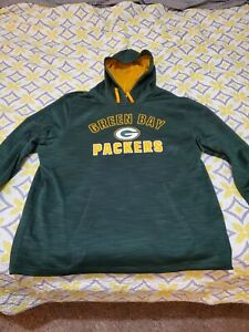 Nfl Majestic size XL Greenbay Packers Hoodie. Pullover Green.
