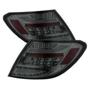 Mercedes Benz 08-11 W204 C-Class Smoke LED Rear Tail Lights Brake Lamp Set